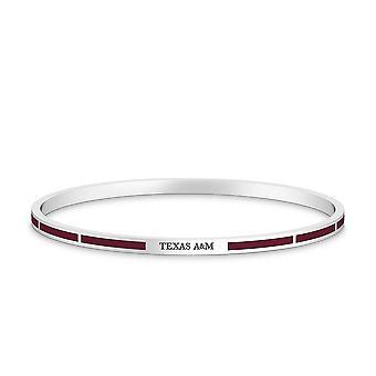 Texas A&M University - Texas A&M Engraved Enamel Bracelet In Maroon