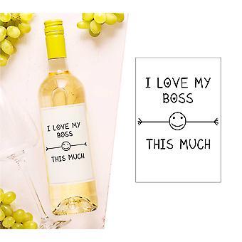 Jeg elsker sjefen min dette mye vinflaske Label