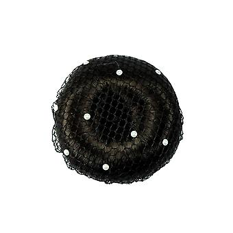 ShowQuest Showquest Pearls Large Mesh Bun Net - Black