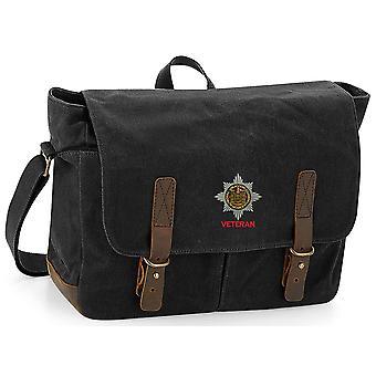 Royal Dragoon guardas veterano-licenciado British Army bordados encerado lona Messenger Bag