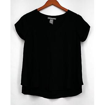 Kate et Mallory Top Short Sleeve w/ Tulip Back Black Womens A425723