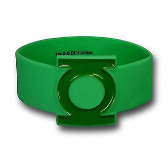 Grüne Laterne Symbol geformt Gummiarmband