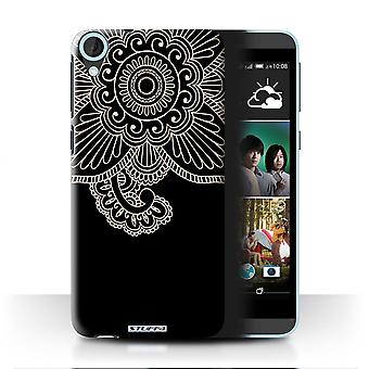 STUFF4 Case/Cover for HTC Desire 820q Dual/Flower/Henna Tattoo