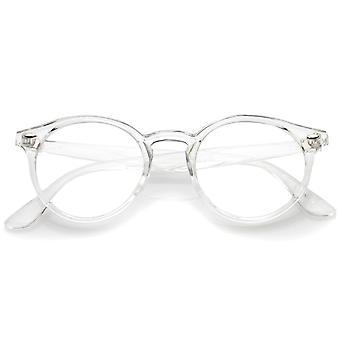 Klassische transluzente Horn umrandeten Lichtscheibe P3 Runde Brille 49mm