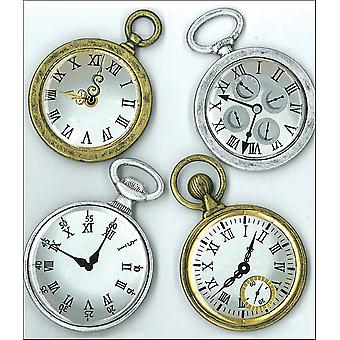 Jolee's Boutique Parcel Dimensional Stickers Vintage Pocket Watches E5020718