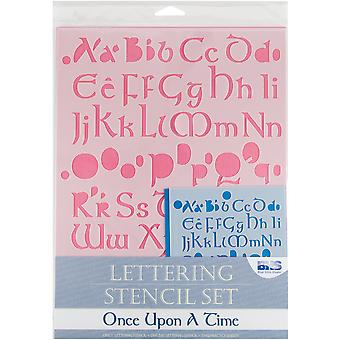 Lettering Stencil 4 Piece Sets Once Upon A Time Bhs Lset 112