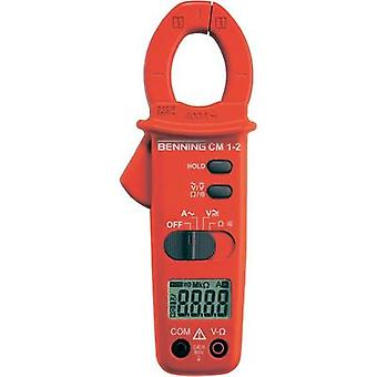 Current clamp, Handheld multimeter digital Benning CM 1-2 Calibrated to: Manufacturer standards CAT III 600 V Display (