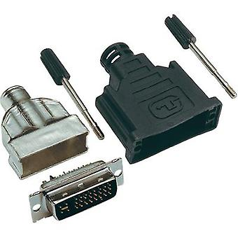 DVI connector Plug, straight Number of pins: 25 Silver BKL Electronic 0908000 1 pc(s)