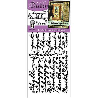 Dazzles Stickers-Card Greetings-Black DAZ-2552