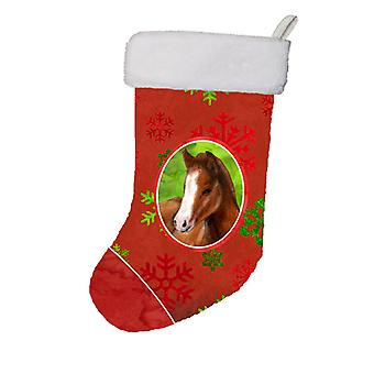 Horse Foal Red Snowflakes Holiday Christmas  Christmas Stocking