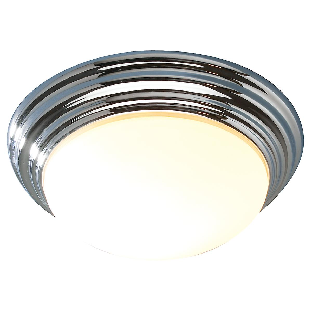 Dar BAR5250 Barclay Modern Chrome Bathroom Flush Ceiling Light - 31cm