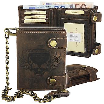 Greenburry vintage leather of biker wallet with chain