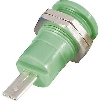 Safety jack socket Socket, vertical vertical Pin diameter: 4 mm Green Schnepp BU 4600 gr 1 pc(s)