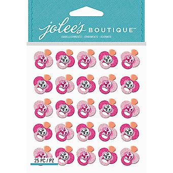 Jolee's Boutique Dimensional Stickers-Pink Glitter Pacifier E5021931