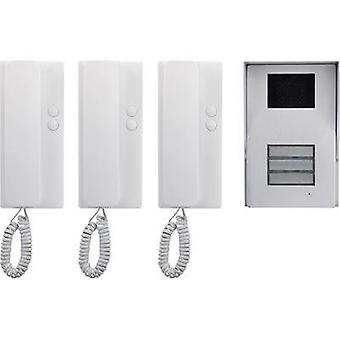 Door intercom Corded Complete kit Basetech 3 flat