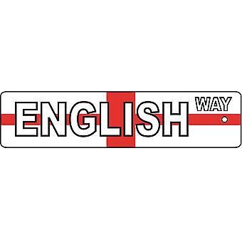 Englisch-Weg Straßenschild Auto-Lufterfrischer