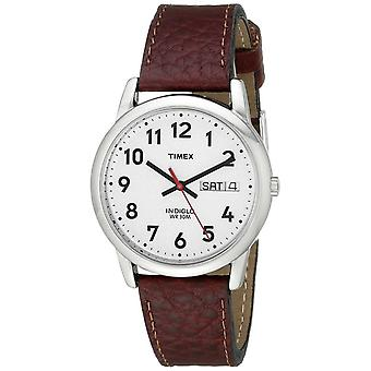 Timex Men's Easy Reader Brown Leather Watch - (Model No. T20041)