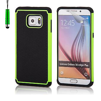 Shock proof case for Samsung Galaxy S6 Edge+ (S6 Edge Plus) including stylus - Green