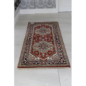 Rød & creme Serapi Indo omkranset orientalske uld tæppe