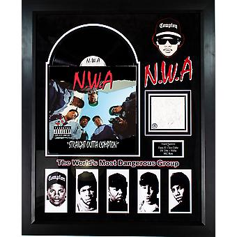 N.W.A. Straight Outta Compton Signed Signature Cutout with Album