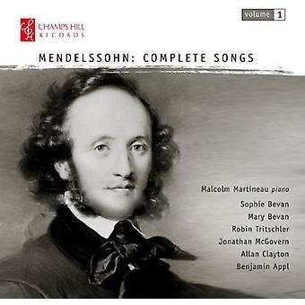 Mendelssohn - Comp sange vol. 1 [CD] USA importerer