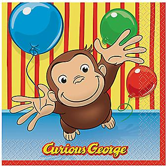 Curious George Luncheon Servetten [16 Per Pack]