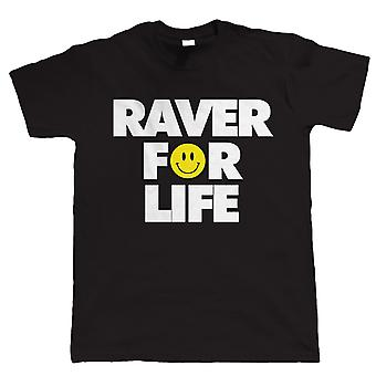 Raver lebenslang Mens Festival T Shirt