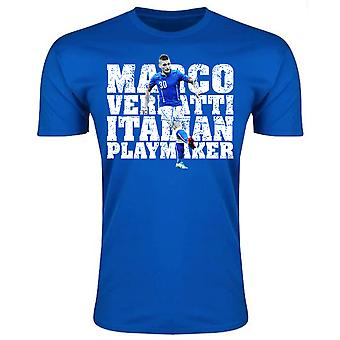 Marco Verratti Italy Player T-Shirt (Royal)
