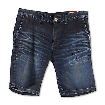 Rivet De Cru Indian Blue Chino Cut Denim Shorts