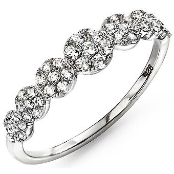 925 Silver Rhodium Plated And Zirconia Trend Ring