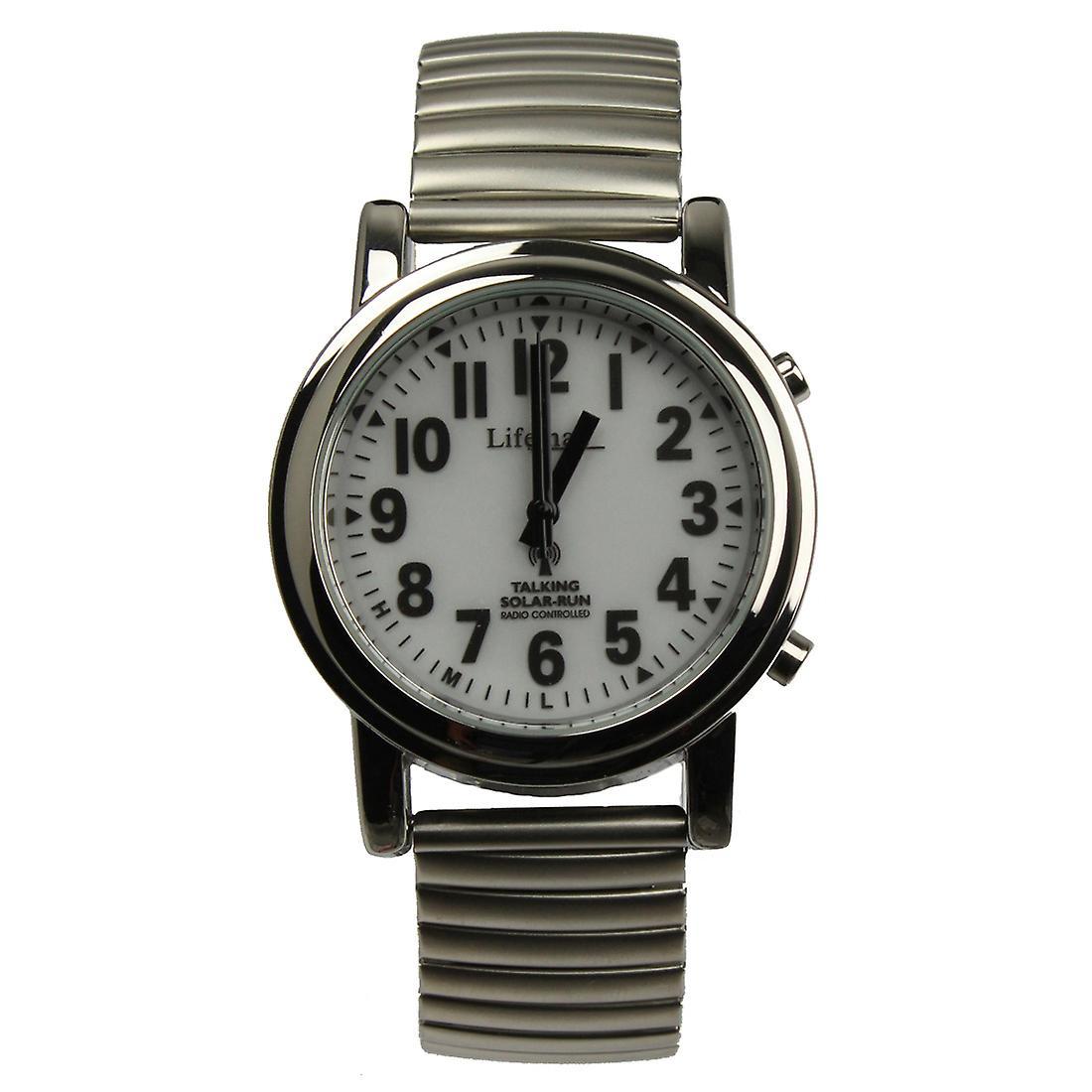 Talking Solar Atomic Watch - Expandable Bracelet