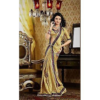 Darpana or Faux crêpe luxe parti porter Sari saree