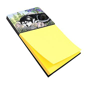 Alaskan Malamute Refiillable Sticky Note Holder or Postit Note Dispenser