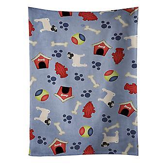 Carolines Schätze BB4113KTWL Hund Haus Sammlung Mops Küchentuch