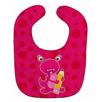 Carolines Treasures  BB8864BIB Monster Pink Baby Bib