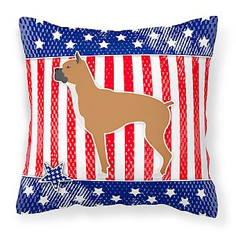 Carolines Treasures  BB3353PW1414 USA Patriotic Boxer Fabric Decorative Pillow