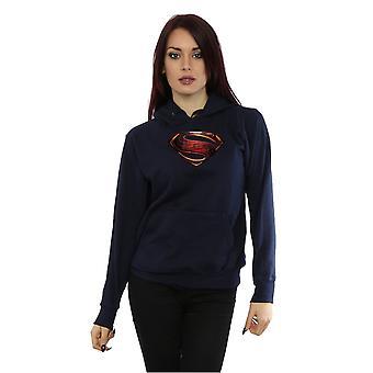 DC Comics kvinnors Justice League filmen Superman Emblem Hoodie