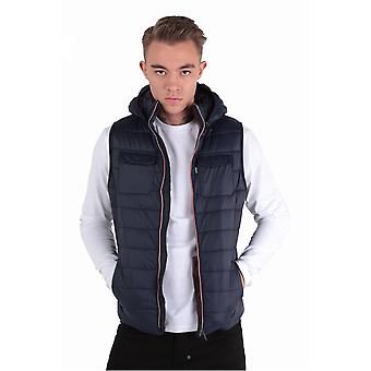 883 POLICE Marco Navy Hooded Gilet