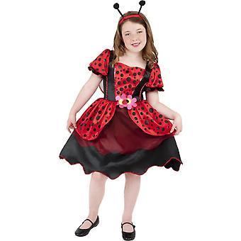 Dziecięce stroje karnawalowe biedronka sukienka dla dziewczynek