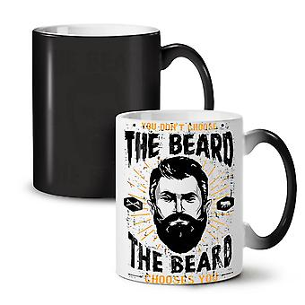 Don't Choose Beard NEW Black Colour Changing Tea Coffee Ceramic Mug 11 oz | Wellcoda