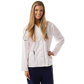Kvinders prinsesse Cut kort Lab Coat Uniform