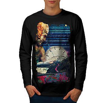 Klassischen Kunst Raum Männer BlackLong Sleeve T-shirt | Wellcoda
