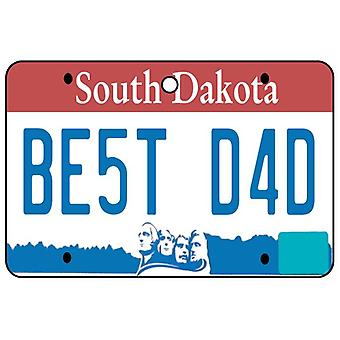 South Dakota - Best Dad License Plate Car Air Freshener