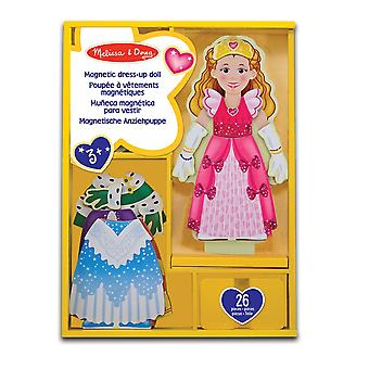 Melissa & Doug Deluxe Princess Elise Magnetic Wooden Dress-Up Doll