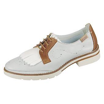 Zapatos de mujer universal de Pikolinos Sitges Aqua Brandy Leder W7J4669