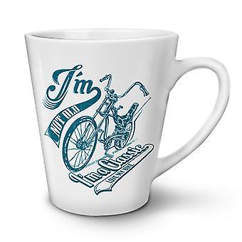Bike Motor NEW White Tea Coffee Ceramic Latte Mug 17 oz   Wellcoda