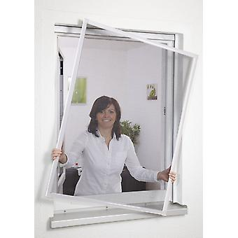 Insect repellent insect screen window frame without drilling 80 x 100 cm white