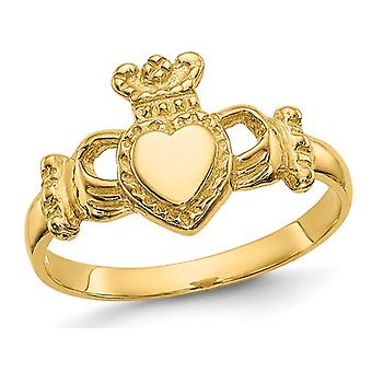 Ladies Claddagh Ring in 14K Yellow Gold