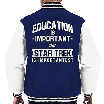 Education Is Important But Star Trek Is Importantest Men's Varsity Jacket