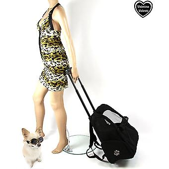 Valentina Valentti Deluxe Pet Travel Carrier Trolley Backpack